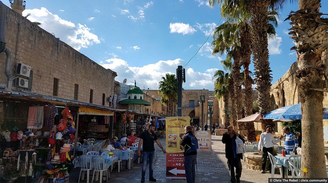 улицы города Акре Израиль фото