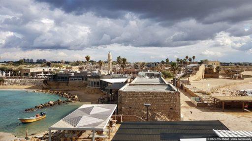 Город Кесария в Израиле фото