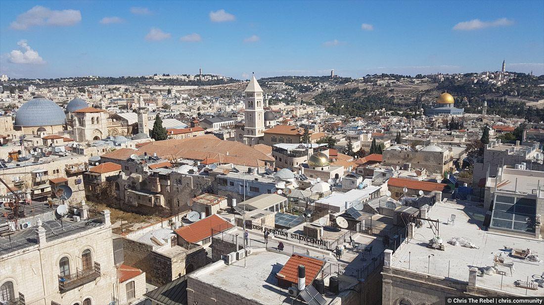 панорама старого города Иерусалима