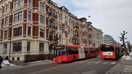 автобусы в Норвегии фото Осло