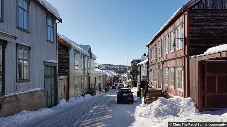 город Рерус в Норвегии