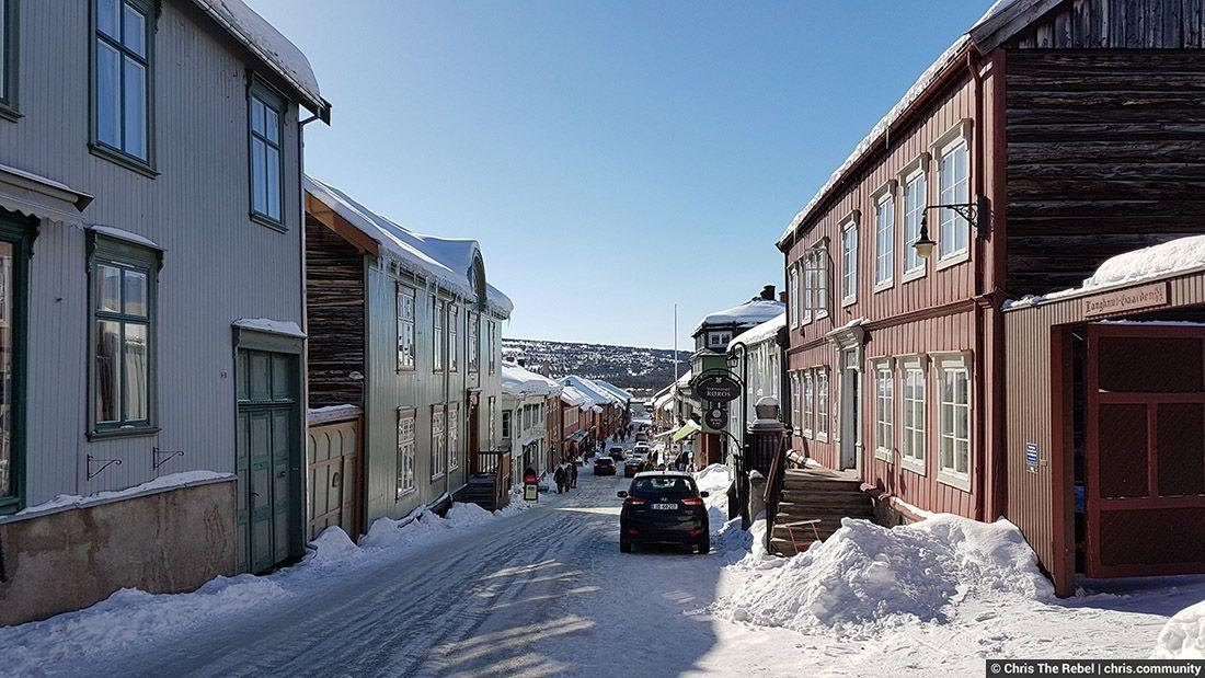 город Рёрус в Норвегии