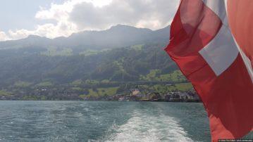 Озеро Lucerne и прибрежные малые швейцарские города