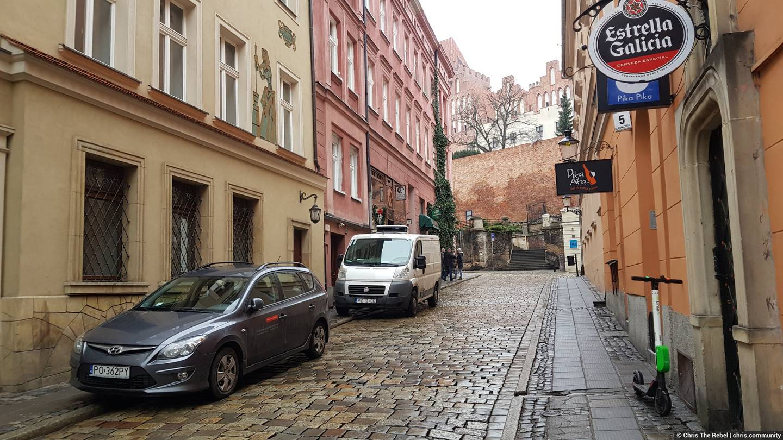 улицы города Познань в Польше фото